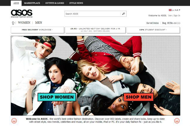 Интернет-магазин Asos.com