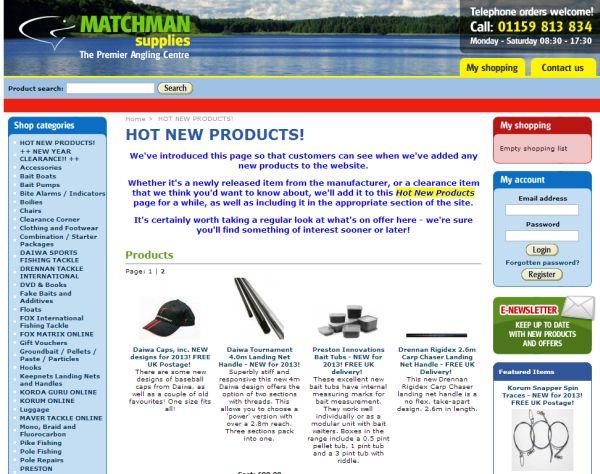 Интернет-магазин Matchmansupplies.co.uk