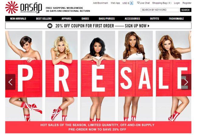 Интернет-магазин Oasap.com