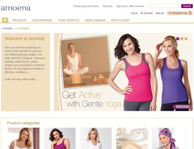 Интернет-магазин Amoena.co.uk