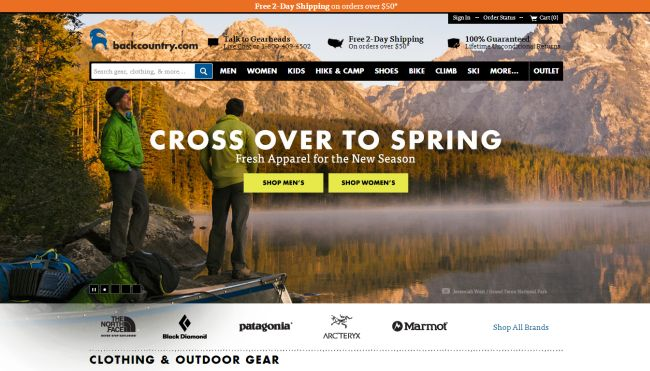 Интернет-магазин Backcountry.com