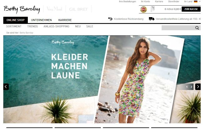 Интернет-магазин Bettybarclay.com