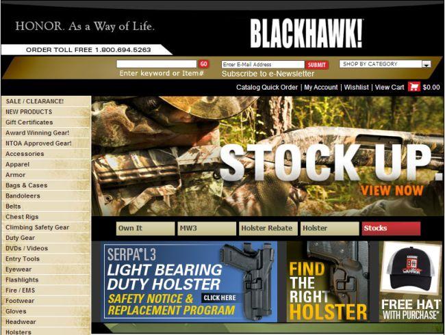 Интернет-магазин Blackhawk.com