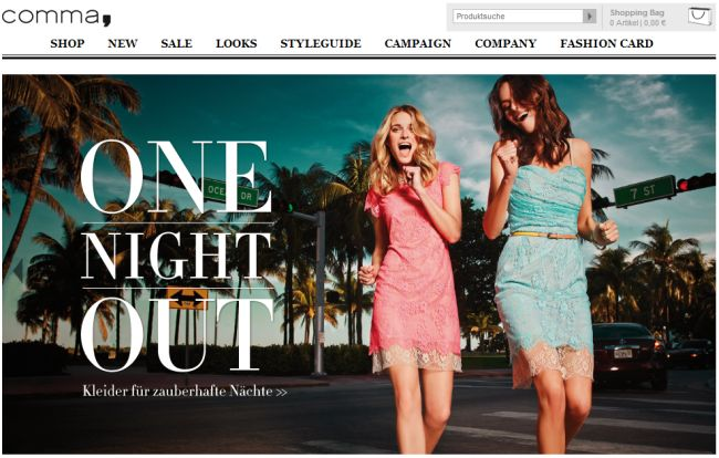 Интернет-магазин Comma-fashion.com