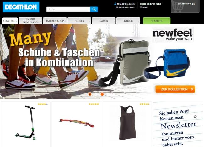 Интернет-магазин Decathlon.de