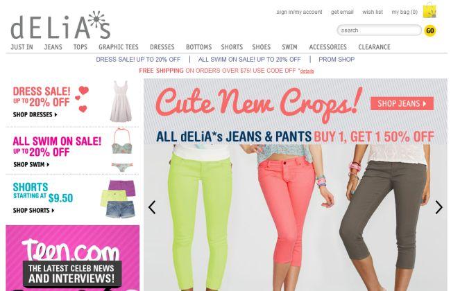 Интернет-магазин Delias.com