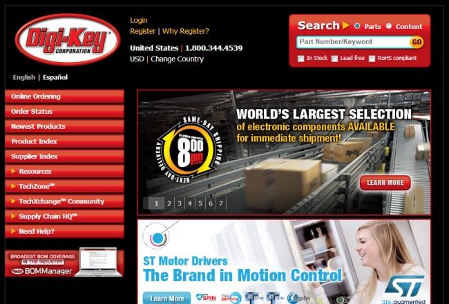 Интернет-магазин Digikey.com