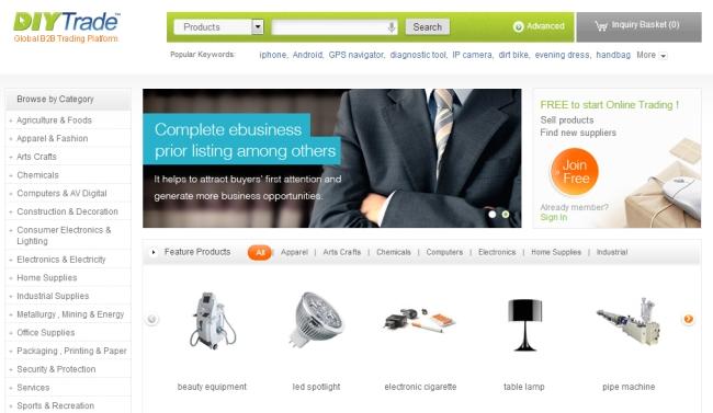 Интернет-магазин Diytrade.com