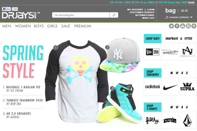 Интернет-магазин Drjays.com