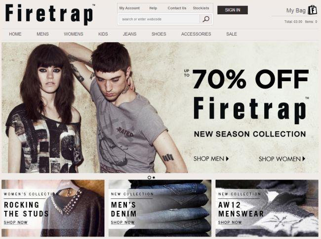 Интернет-магазин Firetrap.com