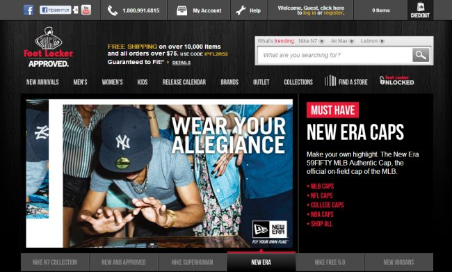 Интернет-магазин Footlocker.com