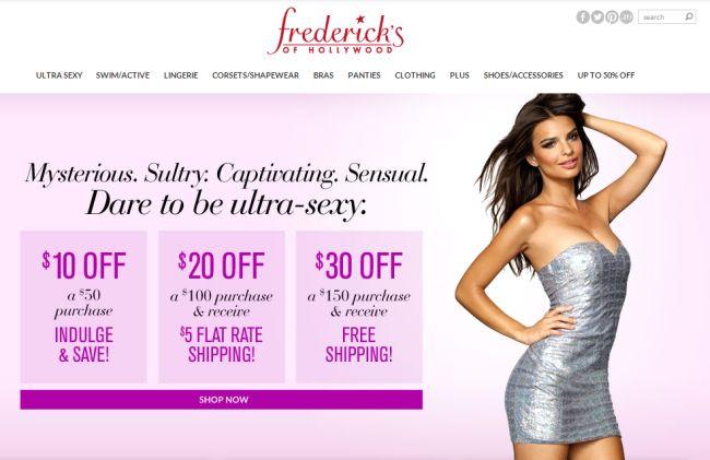 Интернет-магазин Fredericks.com