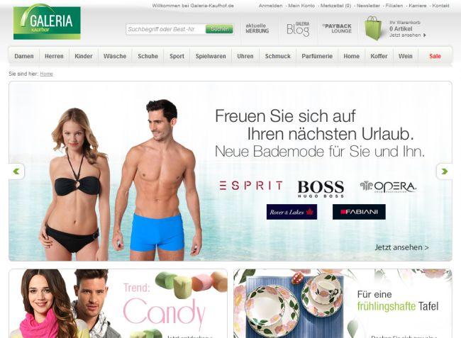 Интернет-магазин Galeria-kaufhof.de