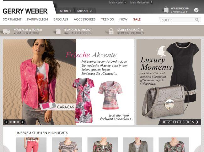 Интернет-магазин Gerryweber.de