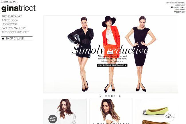Интернет-магазин Ginatricot.com