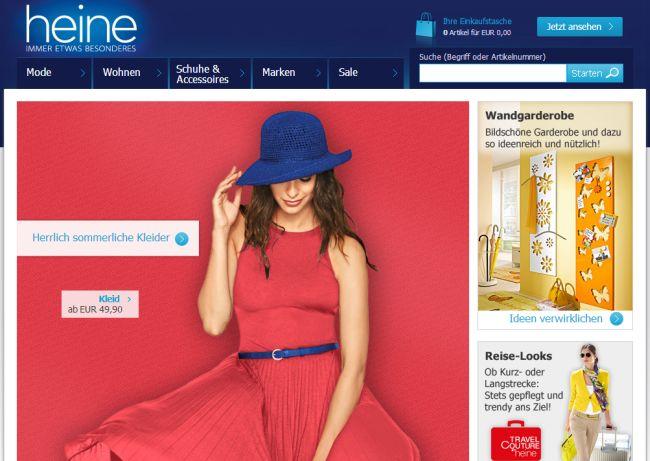 Интернет-магазин Heine.de