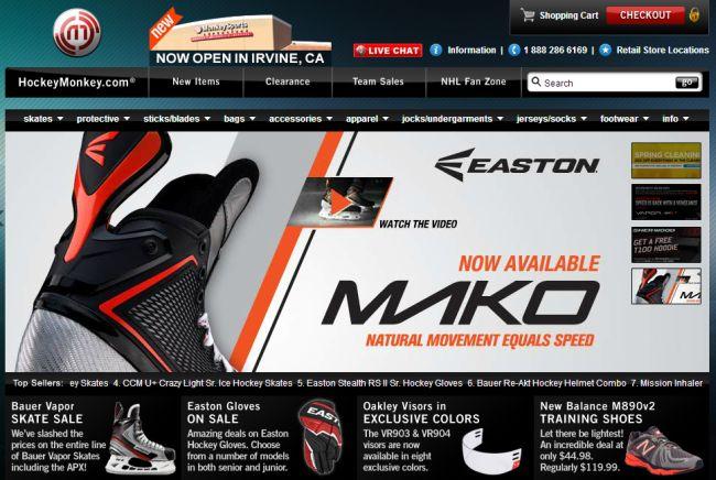 Интернет-магазин Hockeymonkey.com