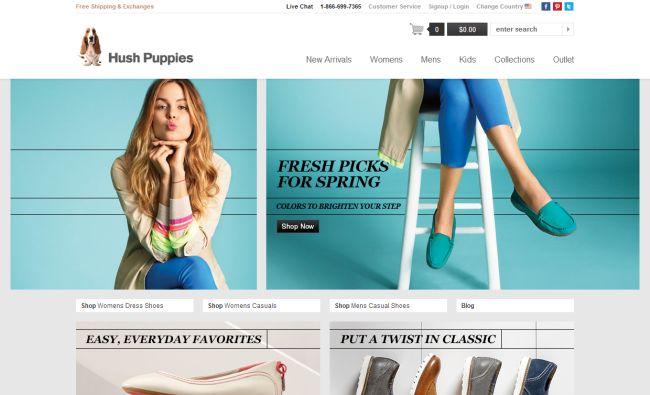 Интернет-магазин Hushpuppies.com