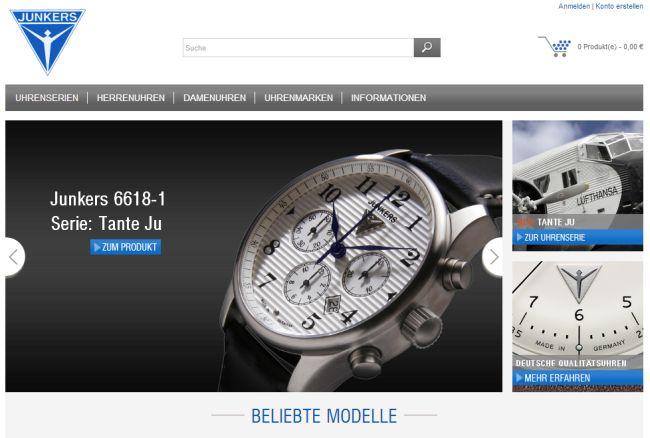 Интернет-магазин Junkers.de