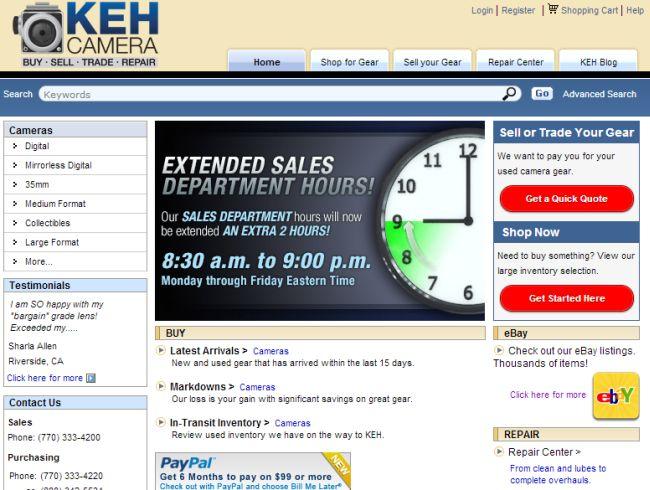 Интернет-магазин Keh.com
