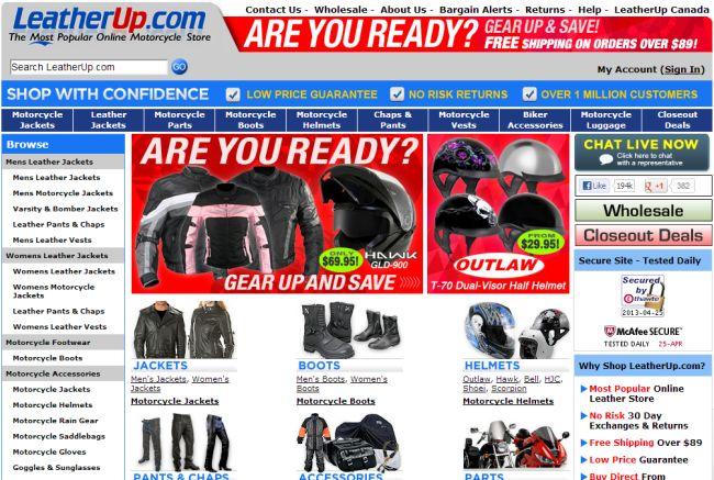 Интернет-магазин Leatherup.com