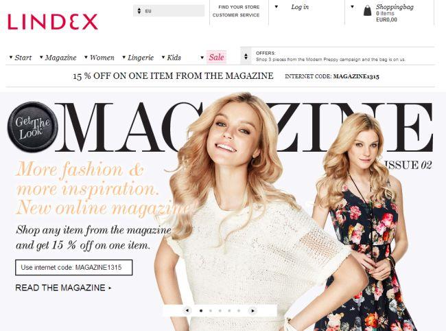 Интернет-магазин Lindex.com