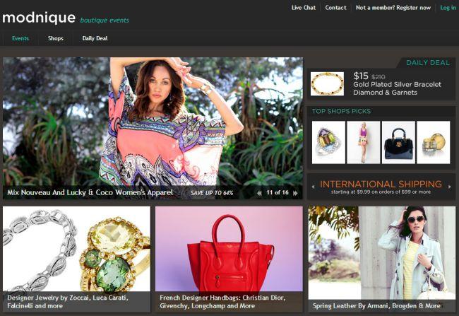 Интернет-магазин Modnique.com