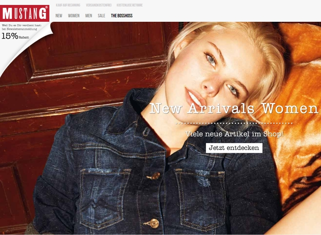 Интернет-магазин Mustang-jeans.de