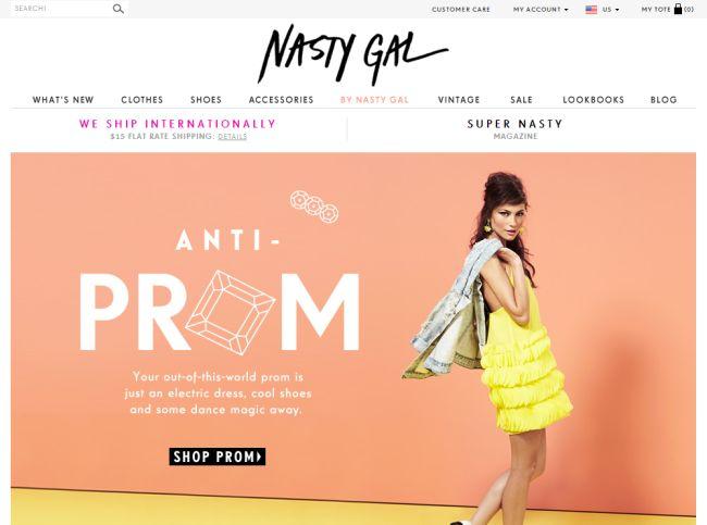 Интернет-магазин Nastygal.com