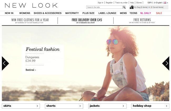 Интернет-магазин Newlook.com