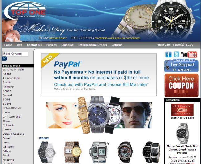 Интернет-магазин Nywatchstore.com