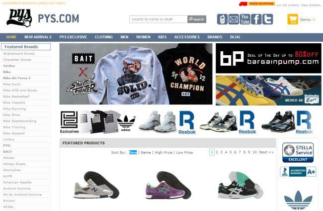 Интернет-магазин Pickyourshoes.com