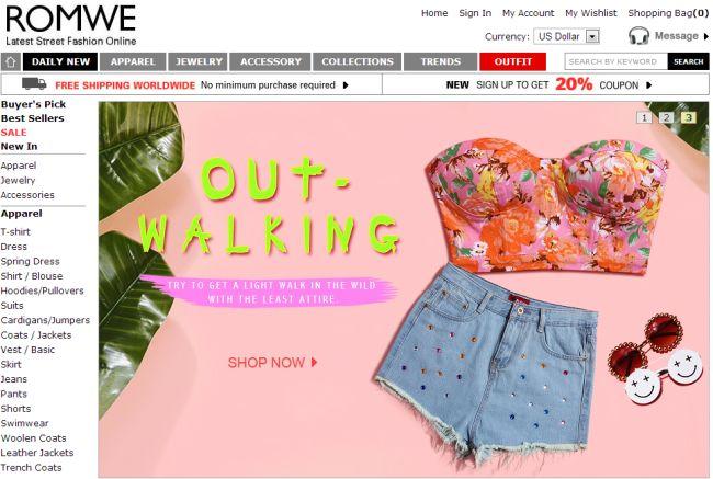 Интернет-магазин Romwe.com