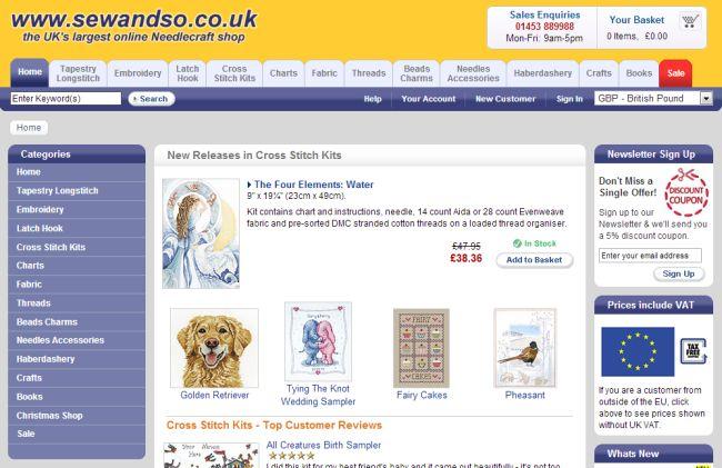 Интернет-магазин Sewandso.co.uk