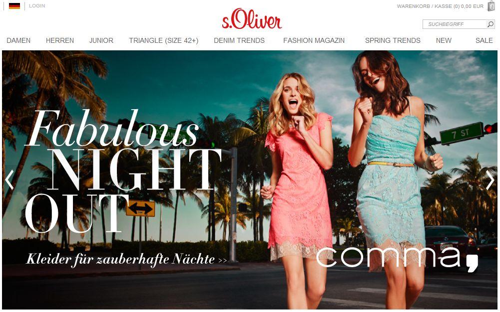 Интернет-магазин Soliver.de
