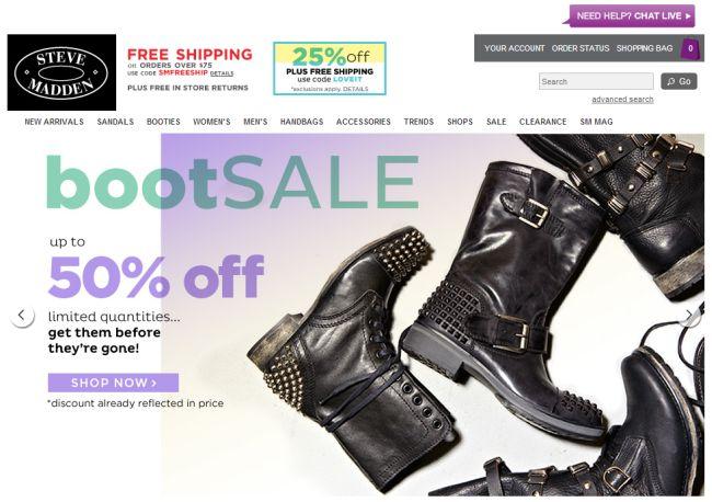 Интернет-магазин Stevemadden.com