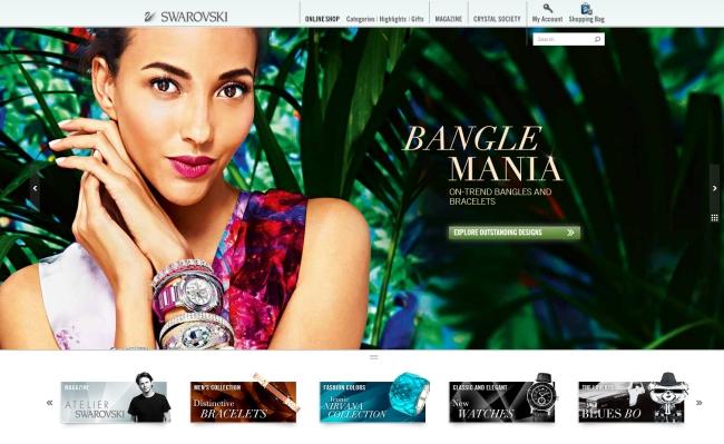 Интернет-магазин Swarovski.com
