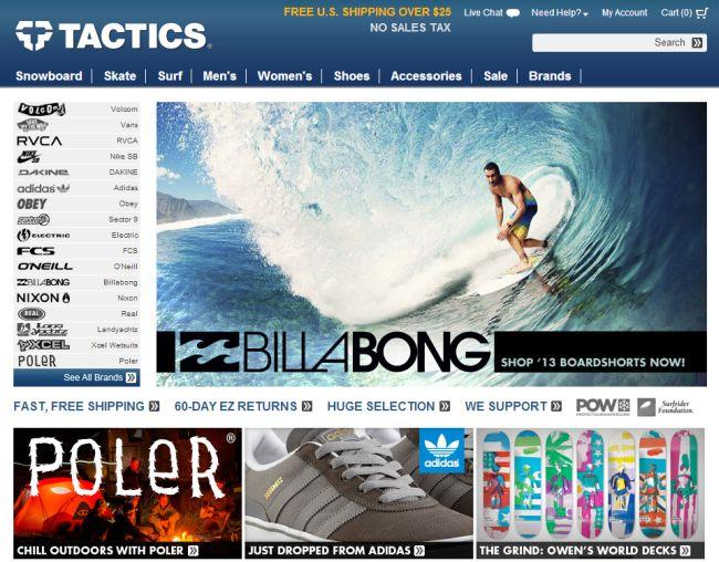 Интернет-магазин Tactics.com
