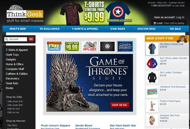Интернет-магазин Thinkgeek.com