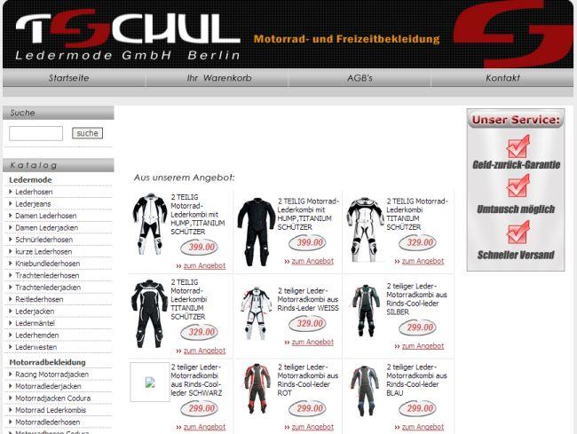 Интернет-магазин Tschul.de