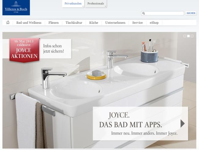 Интернет-магазин Villeroy-boch.com