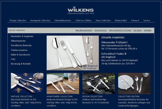 Интернет-магазин Wilkens-shop24.de