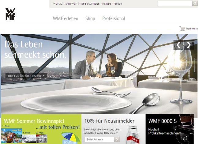 Интернет-магазин Wmf.de