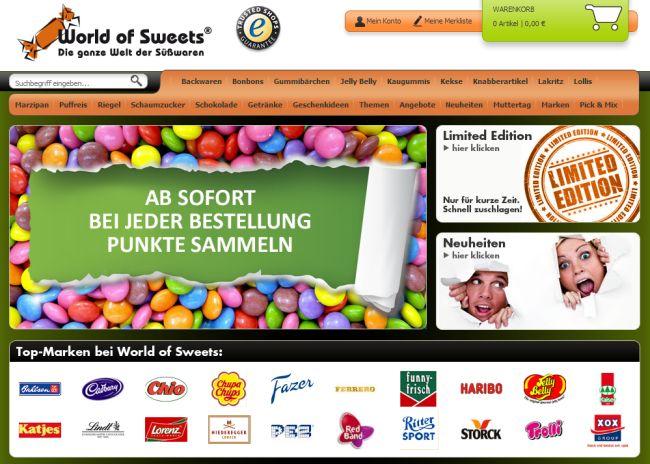 Интернет-магазин Worldofsweets.de
