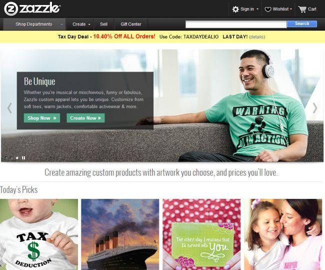 Интернет-магазин Zazzle.com