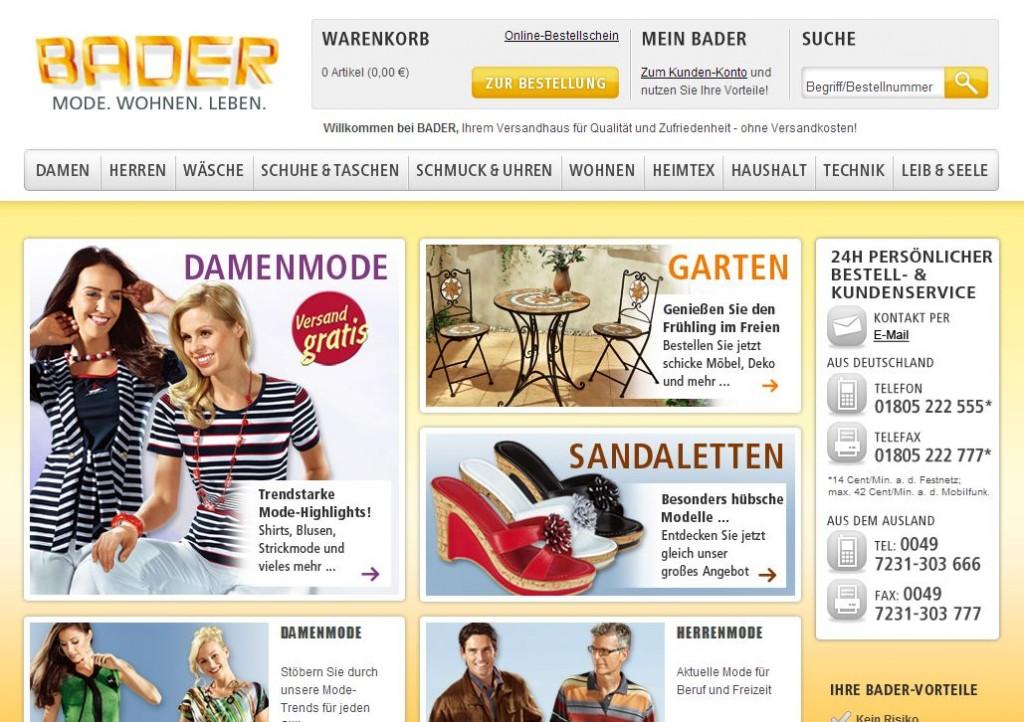 Интернет-магазин Bader.de (Бадер де)