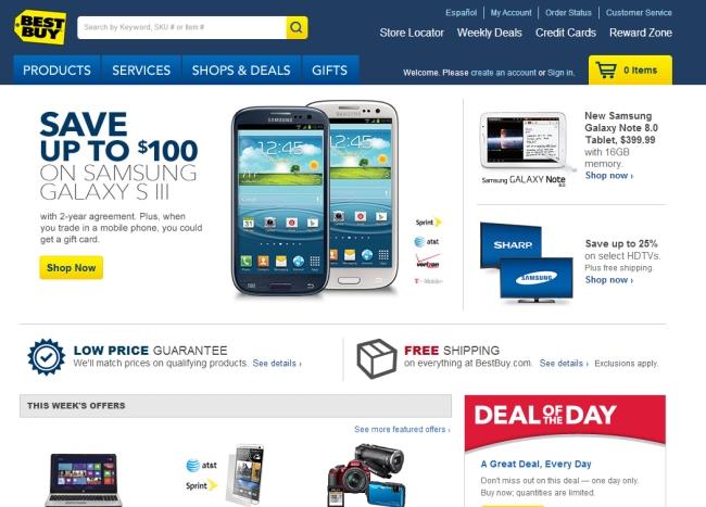 Интернет-магазин Bestbuy.com