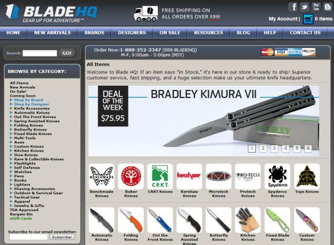 Интернет-магазин Bladehq.com