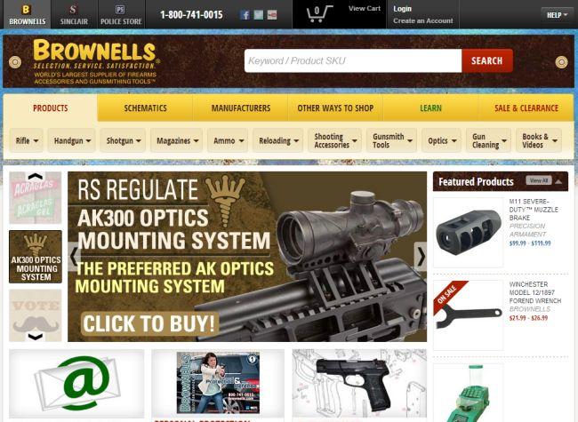 Интернет-магазин Brownells.com