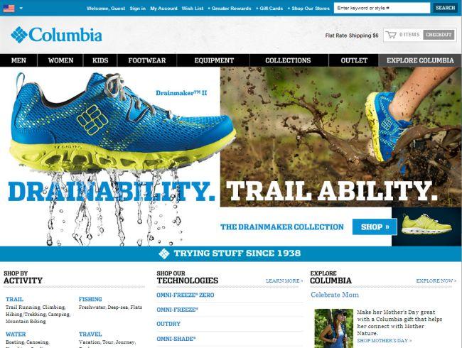 Интернет-магазин Columbia.com